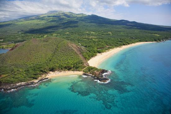 Aerial View Of Maui Little Beach And Big Beach Hawaii