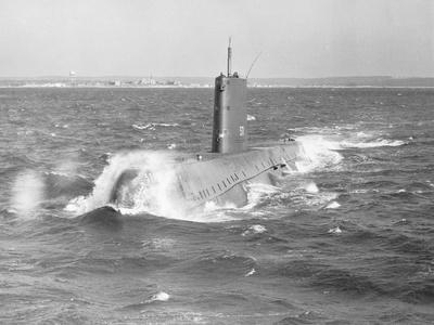 Portrait of USS Nautilus Submarine