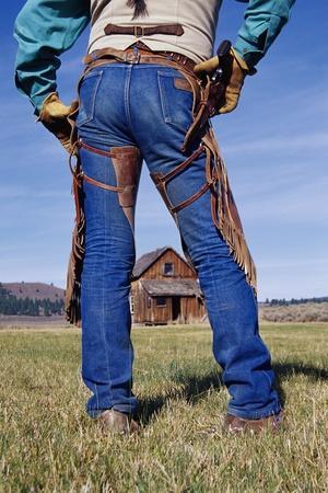 Cowboy Outside Homestead