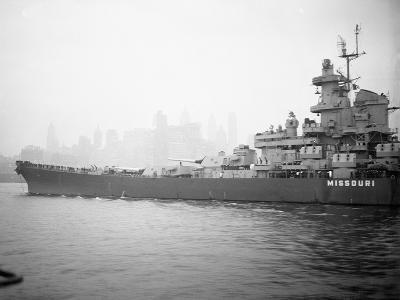 View of the Battleship USS Missouri