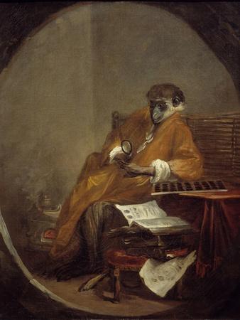 The Monkey Antiquarian by Jean Baptiste Simeon Chardin