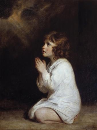 The Infant Samuel Praying by Joshua Reynolds
