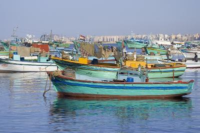 Colorful Fishing Boats in Harbor