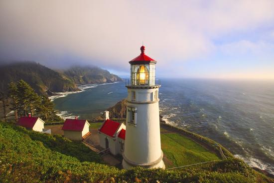 Heceta Head Lighthouse Oregon Coast Pacific Ocean