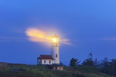 Light Thru Fog, Cape Blanco Lighthouse, South Oregon Coast, Pacific Ocean, Pacific Northwest