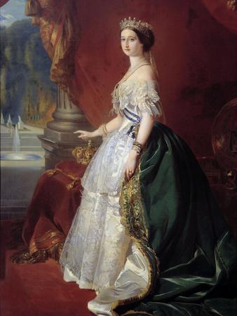 Portrait of Empress Eugenie in Court Dress