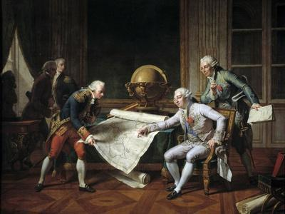 Louis XVI Giving Giving Instructions to La Perouse, 29Th June 1785 by Nicolas-Andre Monsiau