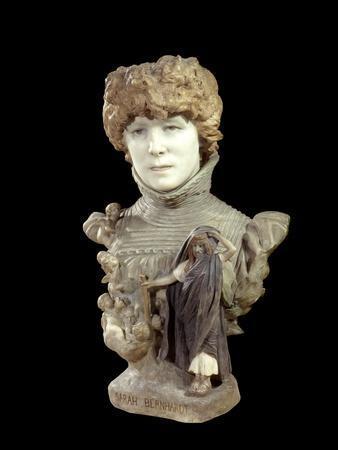 Portrait Bust of Sarah Bernhardt by Jean Leon Gerome