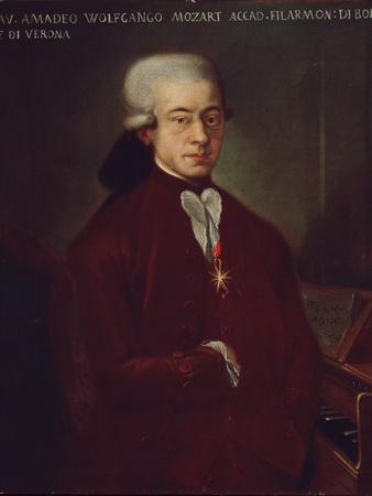 Portrait of Austrian Composer Wolfgang Amadeus Mozart