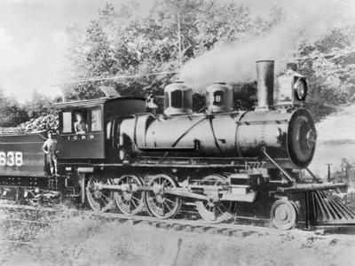 Engineer Casey Jones on Engine No. 638