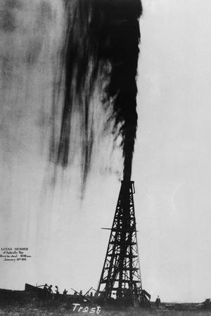 Oil Gushing Over
