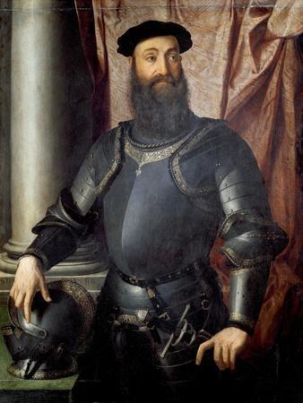 Portrait of Stefano Colonna by Agnolo Bronzino