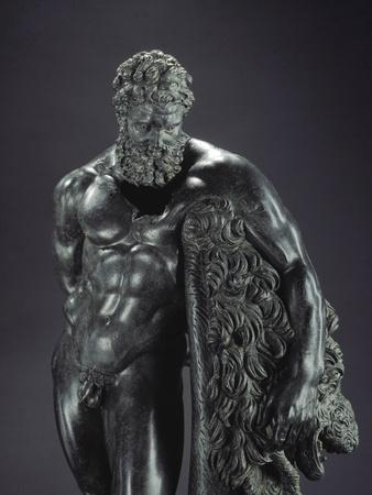 Detail of Herakles Resting by Lysippos
