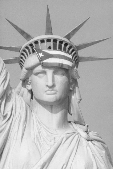 Satatue Of Liberty With Puartarican Flag Tattoo: 'Puerto Rican Flag On Statue Of Liberty' Photographic