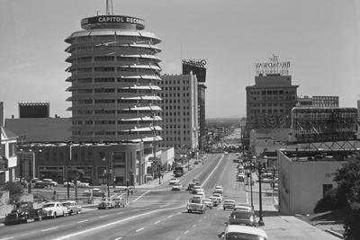 Capitol Records Building on Hollywood Street