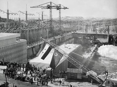 Soviet-Egyptian Ceremonies at the Aswan Dam