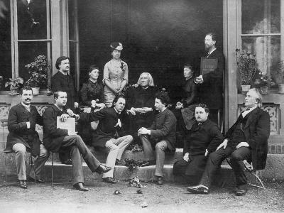 Pupils Surrounding Composer Franz Liszt