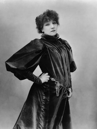 Sarah Bernhardt Standing with Hand on Hip