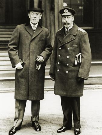President Woodrow Wilson Posing with King George V