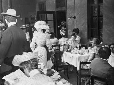 Citizens Dining at Tables