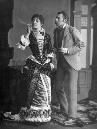 Liberated Type of Woman Smoking alongside a Man