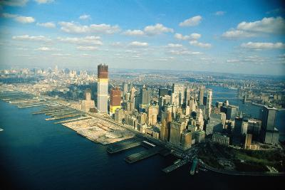 Aerial View of World Trade Center Construction