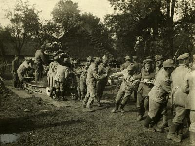 Germans, Austrians Pulling Cannon