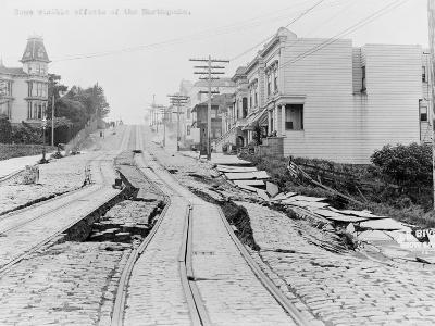 Earthquake Torn Street of San Francisco