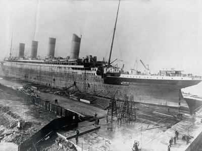 Ship Being Constructed on Platform