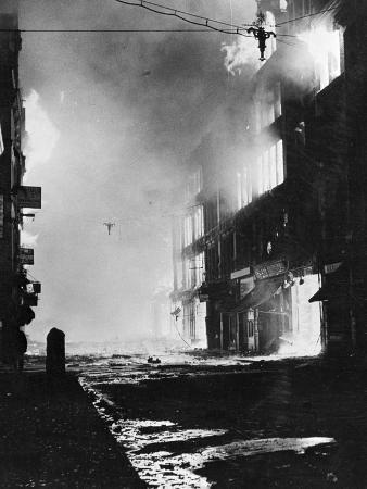 London Burns after Nightly Blitz 1941