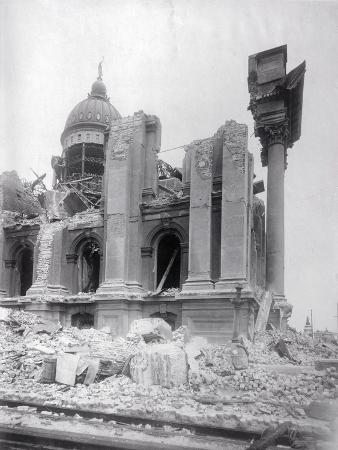 Ruins of City Hall after Earthquake