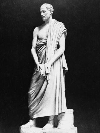 Marble Bust of Greek Orator Demosthenes
