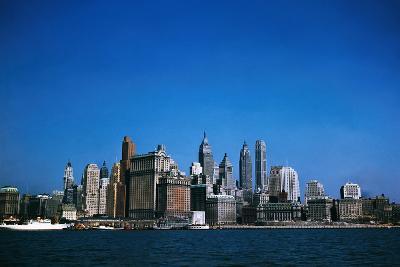 New York City Skyline from Ferryboat