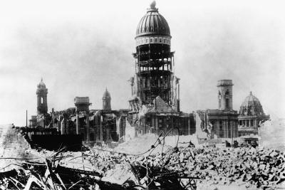 San Francisco City Hall after 1906 Earthquake and Fire