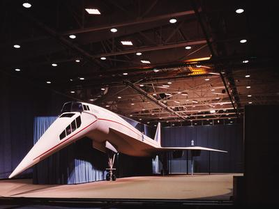 View of Mockup of Lockheed 2000 Supersonic Transport