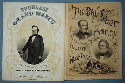 Douglas and Bell and Everett 1860 Campaign Sheet Music
