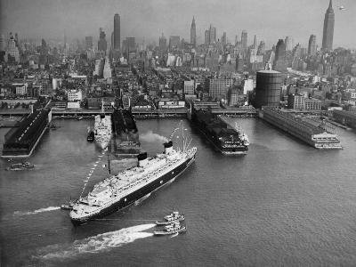 SS Liberte (Formerly Europa) Berths in New York, 1950