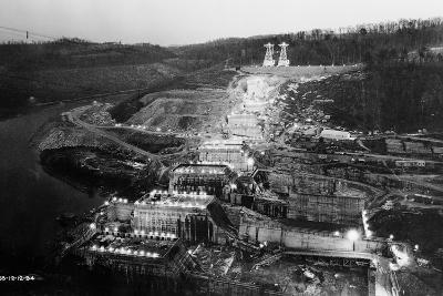 Norris Dam Being Built