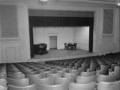 View of Congressional Library Music Auditorium