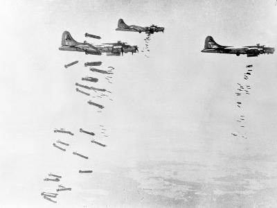 Military Airplanes Dropping Shells over Germany