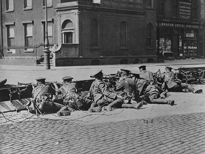 British Troops Seal-Off Dublin Streets during Troubles
