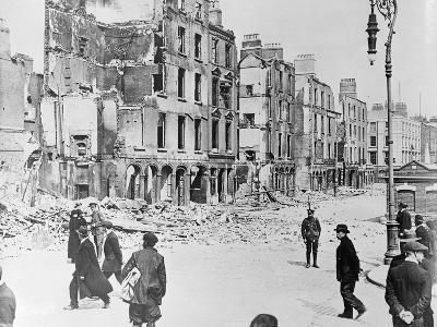 View of Destroyed Buildings in Dublin