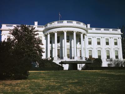 Exterior View of White House in Washington DC