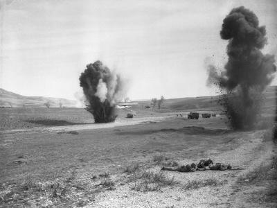 Allied Troops Attacked by German Bombers
