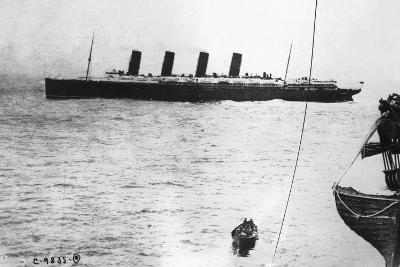 Large Liner Lusitania Leaving in Waters