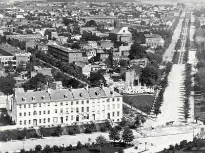 Aerial View of Washington Dc, 1850