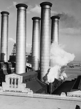 Smokestacks of Edison Power Company