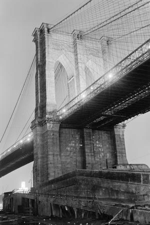 New York's Brooklyn Bridge at Night