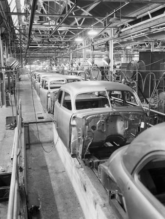 Empty Assembly Line at Auto Body Plant