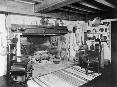 Interior of Early American Furnished Kitchen